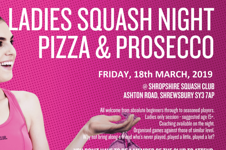 Squash Ladies Night FRIDAY 22nd March 7pm