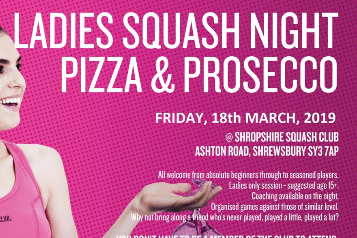 Squash Ladies Night FRIDAY 22nd March 7pm