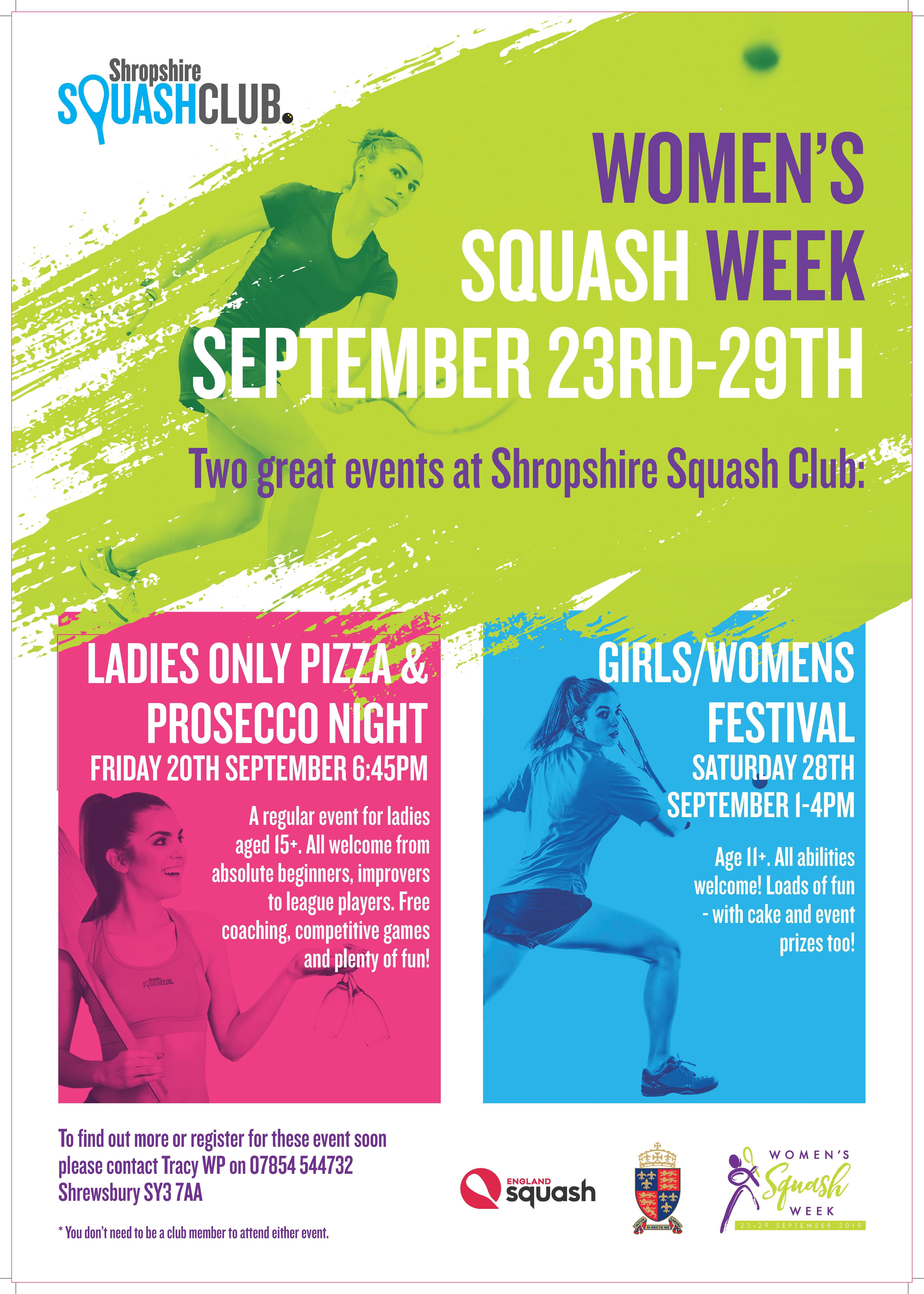 Int'l Women's Squash Week 2019