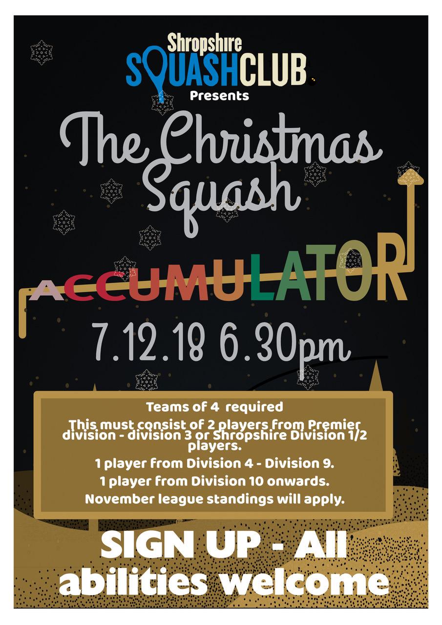 Christmas Squash Event Alert!