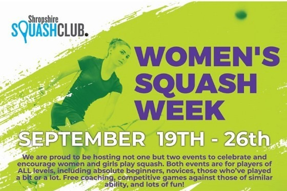 Women's Squash Week Sept 19th to 26th